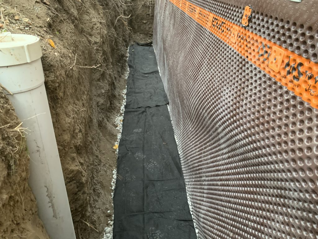 Exterior waterproofing Drain cleaning and unclogging photo picture