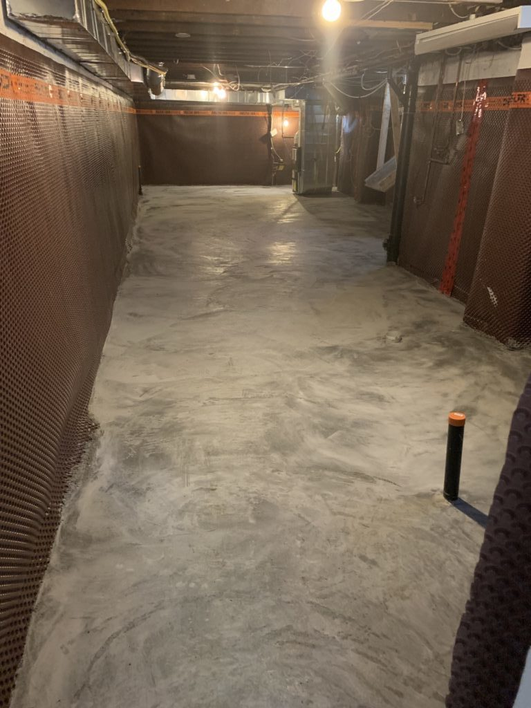 concrete floor installation installation photo picture