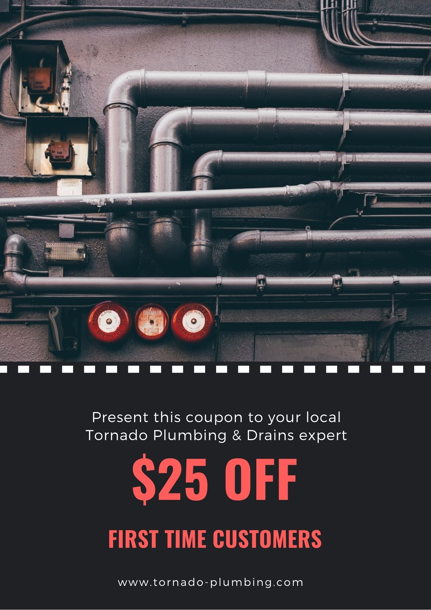 25 OFF First Time Customers Coupons Online Canada Tornado Plumbing & Drains
