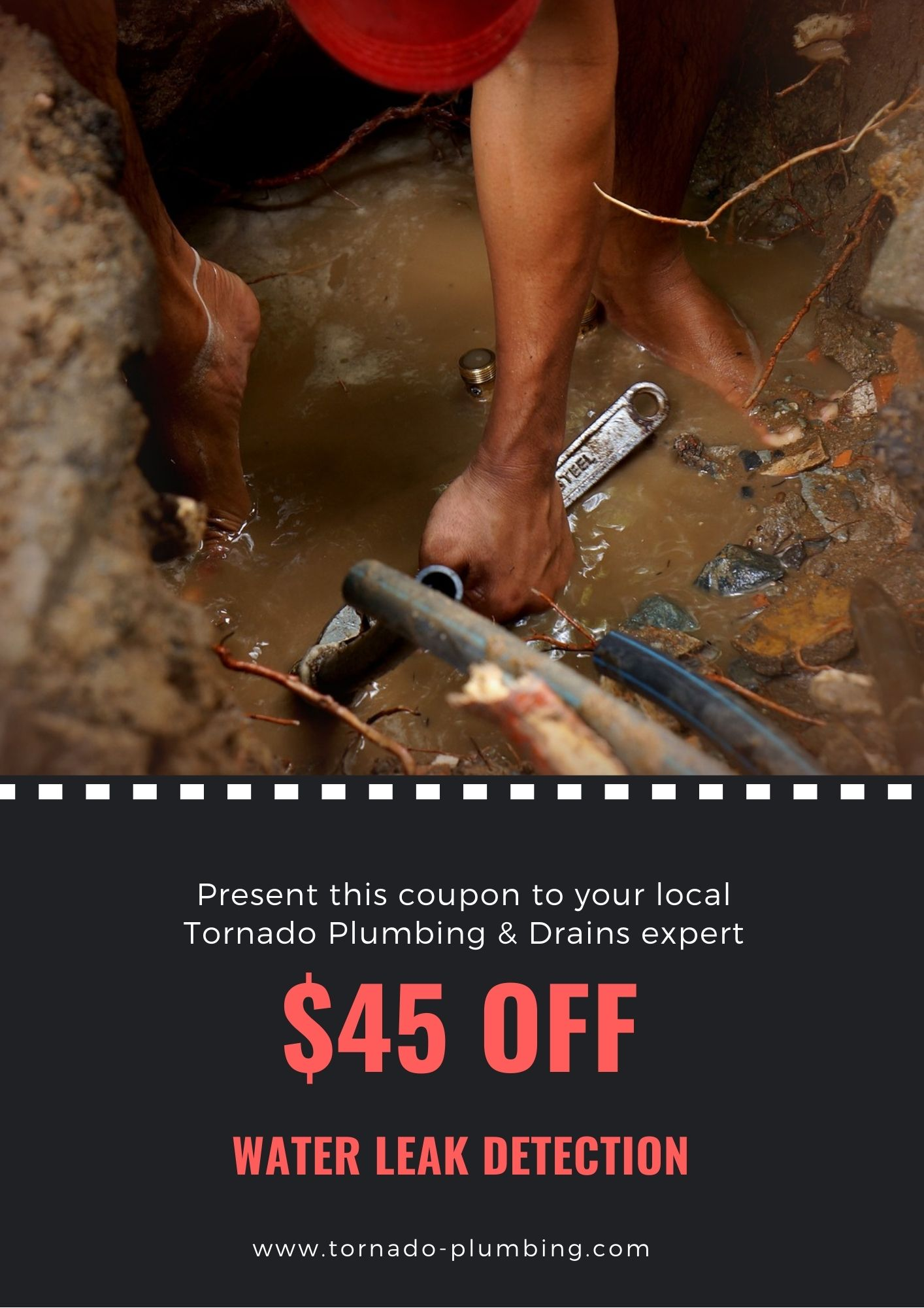 $45 OFF Water Leak Detection Coupons Online Canada Tornado Plumbing & Drains