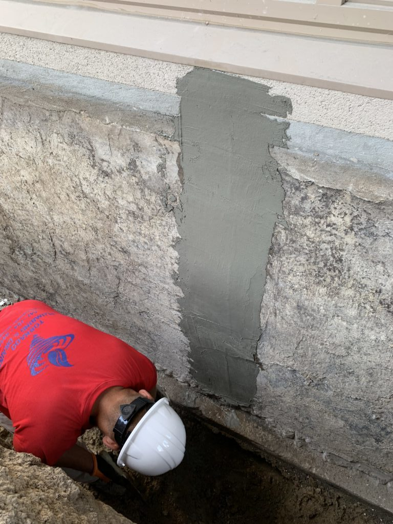 Repair basement leaks